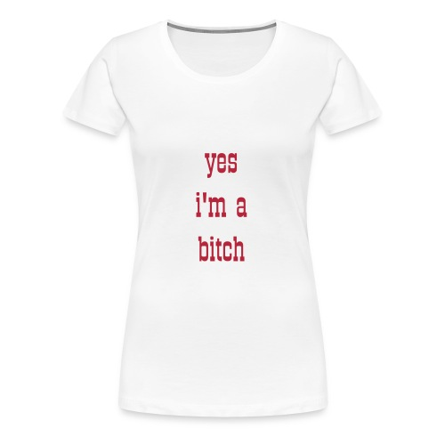 womens yes I'm a  red t-shirt - Women's Premium T-Shirt