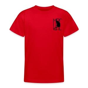 Teenagers' t-shirt with black MRC rat  - Teenage T-shirt