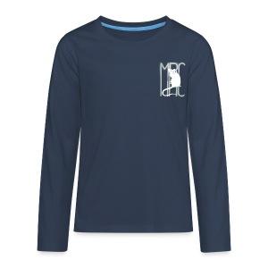 Teenagers' premium long sleeve shirt with white MRC rat - Teenagers' Premium Longsleeve Shirt