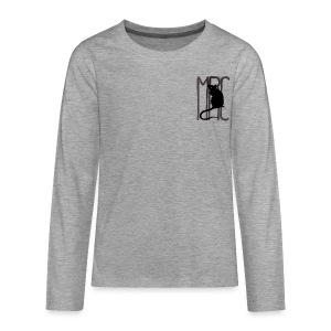 Teenagers' premium long sleeve shirt with black MRC rat - Teenagers' Premium Longsleeve Shirt