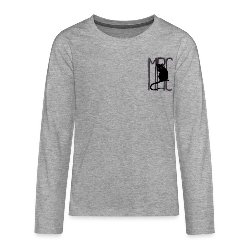 Teenagers' premium long sleeve shirt with black MRC rat - Teenagers' Premium Longsleeve Shirt