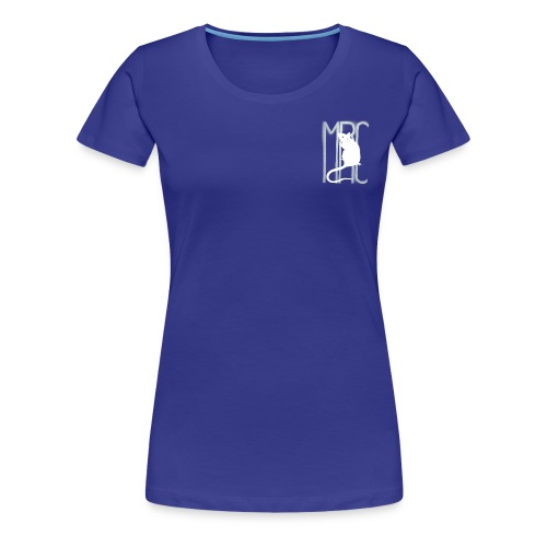 Ladies' premium t-shirt with white MRC rat - Women's Premium T-Shirt