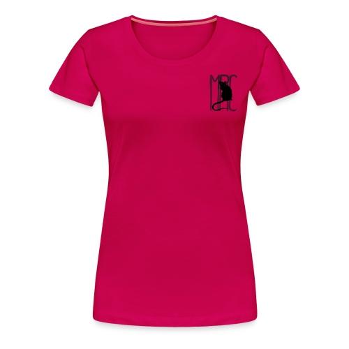Ladies' premium t-shirt with black MRC rat. - Women's Premium T-Shirt