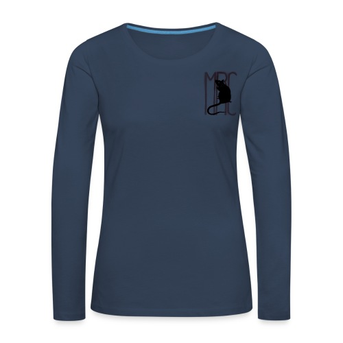 Ladies' premium long sleeve t-shirt with black MRC rat - Women's Premium Longsleeve Shirt
