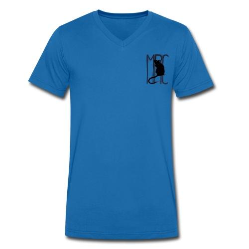 Gents' v neck t-shirt with black MRC rat - Men's Organic V-Neck T-Shirt by Stanley & Stella