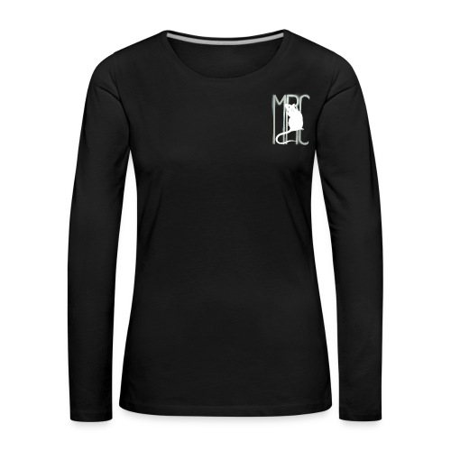 Ladies' premium long sleeve t-shirt with white MRC rat - Women's Premium Longsleeve Shirt