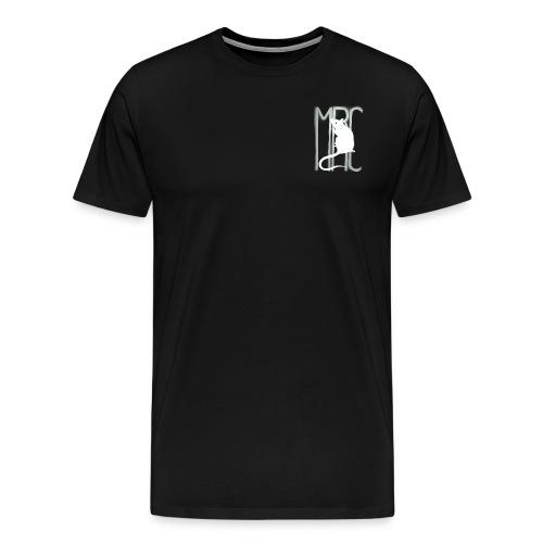 Gents' premium t-shirt with white MRC rat - Men's Premium T-Shirt