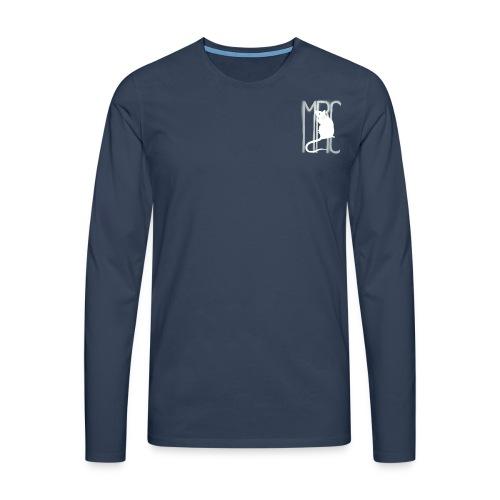 Gents' premium long sleeve shirt with white MRC rat - Men's Premium Longsleeve Shirt