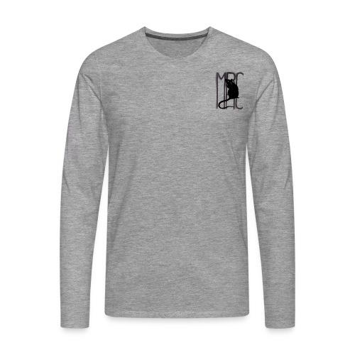 Gents' premium long sleeve shirt with black MRC rat - Men's Premium Longsleeve Shirt