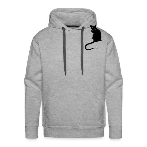 Gents' hoodie with black rat - Men's Premium Hoodie