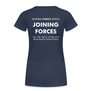 Joining Forces 2014 ladies T-Shirt with custom back print - Women's Premium T-Shirt