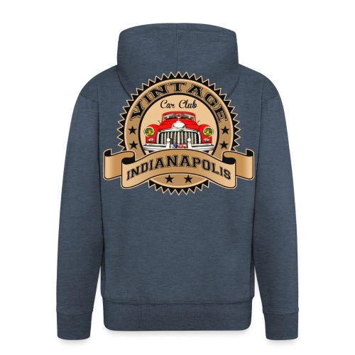 Vintage classic car - Men's Premium Hooded Jacket