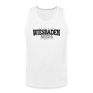Sportbekleidung ~ Männer Premium Tank Top ~ Wiesbaden (black old)