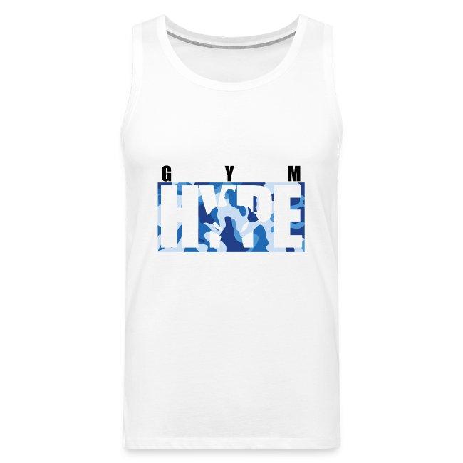 Men's Blue Camo Print Tank