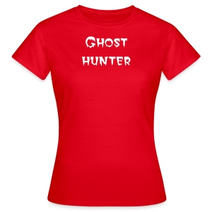 ladies red ghost hunter - Women's T-Shirt