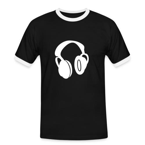 Headphones, Black - Men's Ringer Shirt