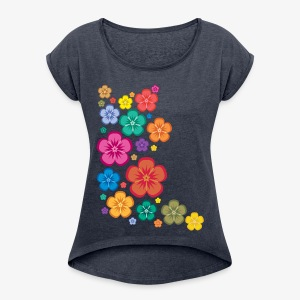flower sweetness - Women's T-shirt with rolled up sleeves