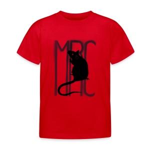 Children's t-shirt with black MRC rat  - Kids' T-Shirt