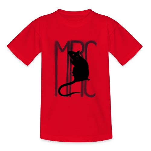 Children's t-shirt with black MRC rat  - Kids' T-Shirt