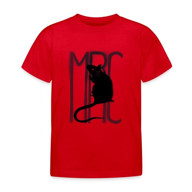 Children's t-shirt with black MRC rat