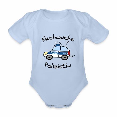 Nachwuchs Polizistin Baby Body kurz - Baby Bio-Kurzarm-Body