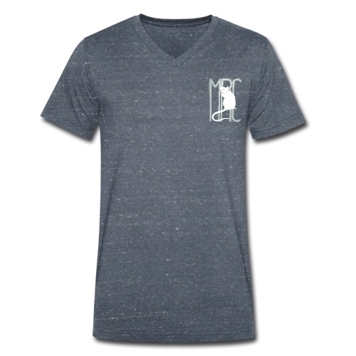 Men's Organic V-Neck T-Shirt by Stanley & Stella - with MRC rat in a choice of garment colour.