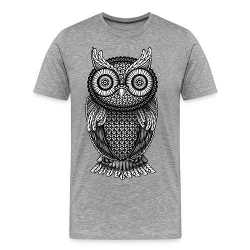 The great owl - Herre premium T-shirt