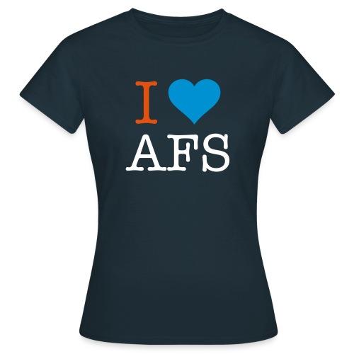 Marineblå dame I Love AFS - Dame-T-shirt