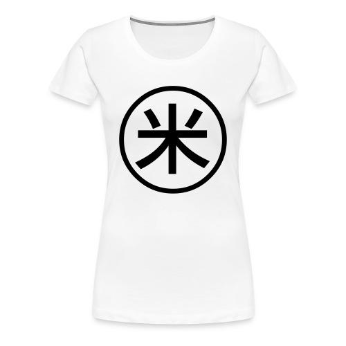 Peko symbol white t-shirt - Women's Premium T-Shirt