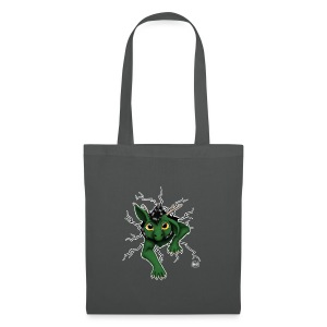 Huch?!- Drachi Dragon stuck grün/green Stofftasche beidiseit. Druck - Stoffbeutel