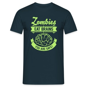 Zombies eat brains - Männer T-Shirt