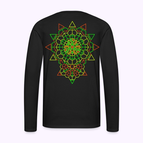 Cosmic Crystal 2-side print - Men's Premium Longsleeve Shirt