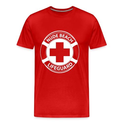 Nude Beach Lifeguard - Mannen Premium T-shirt