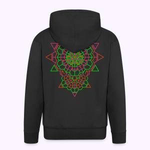 Cosmic Crystal Back Print Hooded Jacket - Miesten premium vetoketjullinen huppari