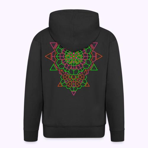 Cosmic Crystal Back Print Hooded Jacket - Men's Premium Hooded Jacket