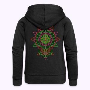 Cosmic Crystal Back Print Hooded Jacket - Felpa con zip premium da donna