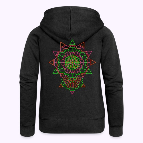 Cosmic Crystal Back Print Hooded Jacket - Women's Premium Hooded Jacket
