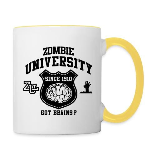 Tasse Zombie University - Mug contrasté