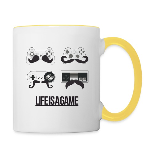 Tasse Life is a Game - Mug contrasté