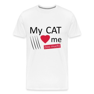 My cat loves me pour homme - T-shirt Premium Homme