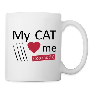 My cat loves me mug - Tasse