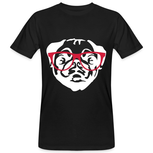 Dog glasses_Men - Mannen Bio-T-shirt