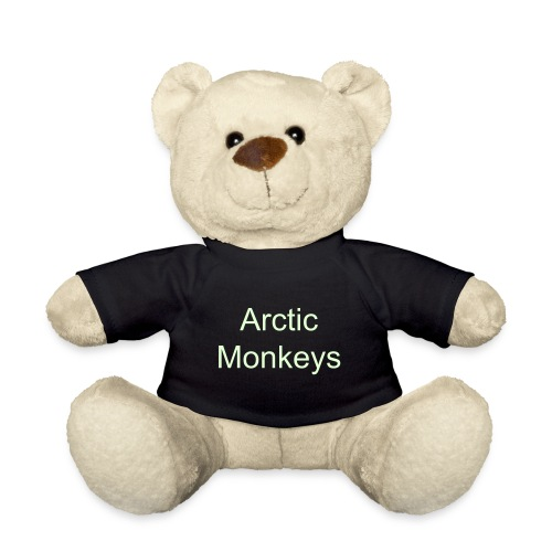Arctic Monkeys Teddy Bear With Glow In The Dark Text - Teddy Bear