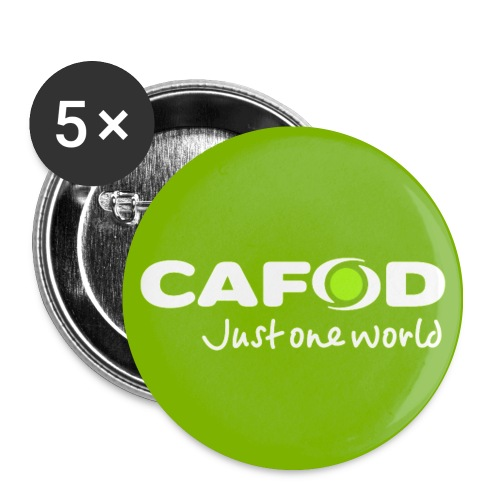 Green CAFOD button badge - Buttons medium 1.26/32 mm (5-pack)