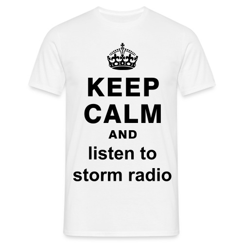 Tee shirt Homme : Keep Calm And Listen to Storm Radio - T-shirt Homme
