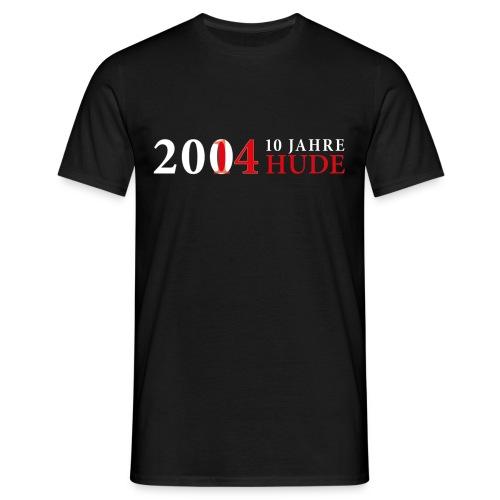10 Jahre HUDE Schriftzug weiß - Männer T-Shirt