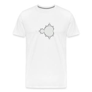 Mandelbrot Fractal T-Shirt (Centre) - Men's Premium T-Shirt