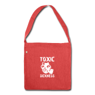 Bags & Backpacks ~ Shoulder Bag made from recycled material ~ NEW Ladies Red Toxic Sickness Shoulder Bag