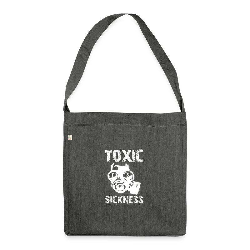 NEW Ladies Red Toxic Sickness Shoulder Bag   - Shoulder Bag made from recycled material