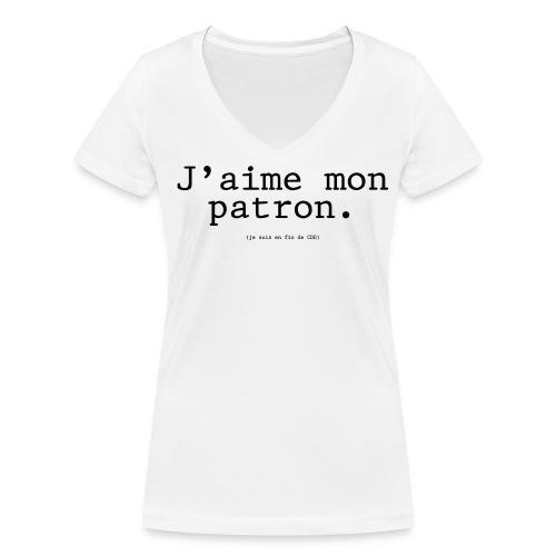 J'aime mon patron (F) - T-shirt bio col V Stanley & Stella Femme